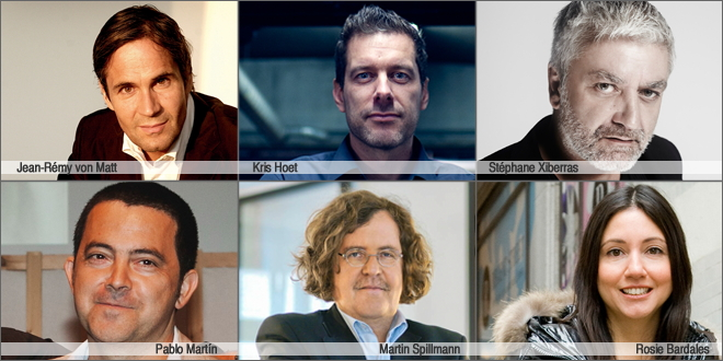 I presidenti delle sei giurie ADC*E Awards, Barcellona 2013